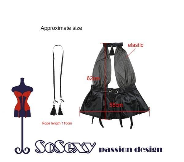 שמלת מיני ספנדקס - גודל